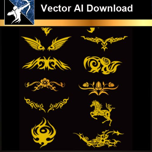 ★Vector Download AI-Tatoo Design Vector V.3 - Architecture Autocad Blocks,CAD Details,CAD Drawings,3D Models,PSD,Vector,Sketchup Download
