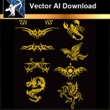 ★Vector Download AI-Tatoo Design Vector V.5 - Architecture Autocad Blocks,CAD Details,CAD Drawings,3D Models,PSD,Vector,Sketchup Download