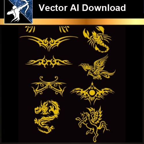 ★Vector Download AI-Tatoo Design Vector V.5