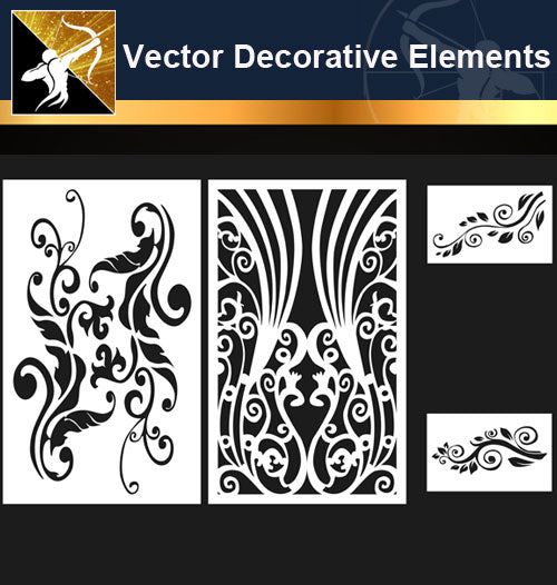 ★Free Vector Decoration Design Elements V.2-Download Illustration AI Vector Files - Architecture Autocad Blocks,CAD Details,CAD Drawings,3D Models,PSD,Vector,Sketchup Download