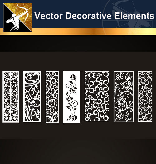 ★Free Vector Decoration Design Elements V.6-Download Illustration AI Vector Files - Architecture Autocad Blocks,CAD Details,CAD Drawings,3D Models,PSD,Vector,Sketchup Download