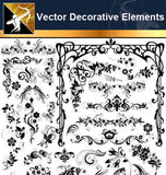 ★Free Vector Decoration Design Elements V.8-Download Illustration AI Vector Files - Architecture Autocad Blocks,CAD Details,CAD Drawings,3D Models,PSD,Vector,Sketchup Download