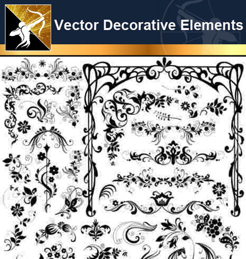 ★Free Vector Decoration Design Elements V.8-Download Illustration AI Vector Files