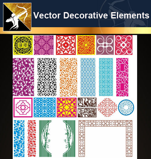 ★Free Vector Decoration Design Elements V.10-Download Illustration AI Vector Files - Architecture Autocad Blocks,CAD Details,CAD Drawings,3D Models,PSD,Vector,Sketchup Download
