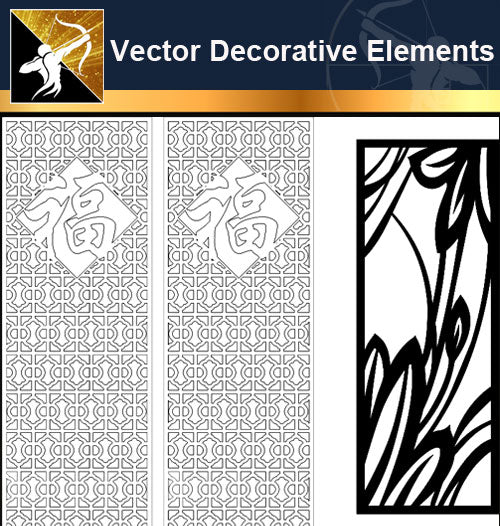 ★Free Vector Decoration Design Elements V.14-Download Illustration AI Vector Files - Architecture Autocad Blocks,CAD Details,CAD Drawings,3D Models,PSD,Vector,Sketchup Download