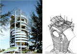 【World Famous Architecture CAD Drawings】Mesiniaga Tower-Ken Yeang-Menara Mesiniaga / T. R. Hamzah & Yeang Sdn. Bhd. - Architecture Autocad Blocks,CAD Details,CAD Drawings,3D Models,PSD,Vector,Sketchup Download