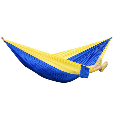 Portable Parachute Nylon Fabric Hammock for Two Person Lover Family Outdoor Travel Camping-Camping Hammocks-The Top Daily Deals