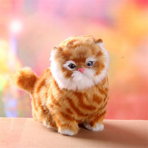 Lovely New Electric Simulation Stuffed Plush Cats Toys Soft Sounding Cute Plush Cat Doll Toys for Kids