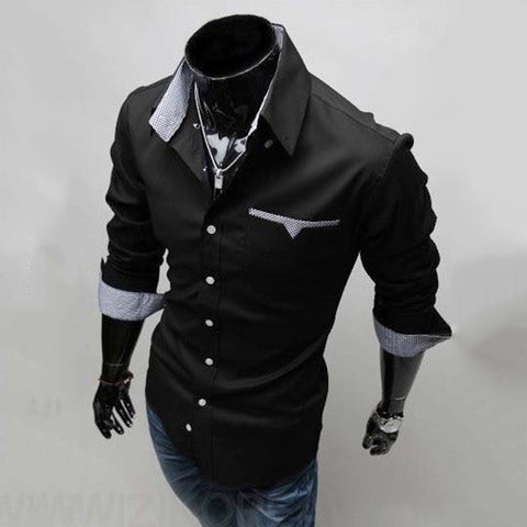 Mens Formal Shirts - Long Sleeve Luxury Dress Shirts
