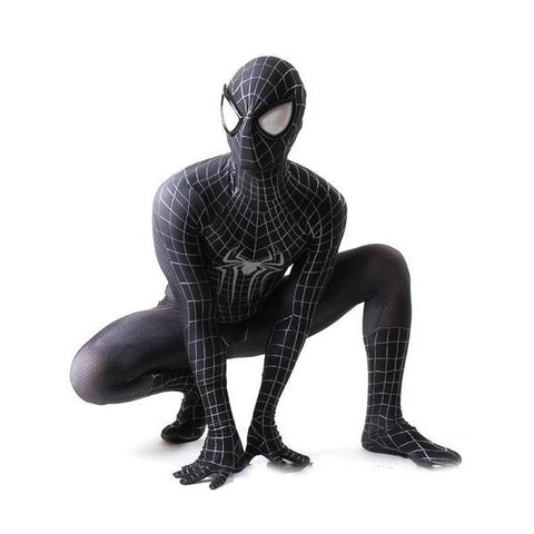 【BUY 2 FREE SHIPPING】Spider-Man Costume Halloween Cosplay 3D Printed Suit (Black/Red)-The Top Daily Deals