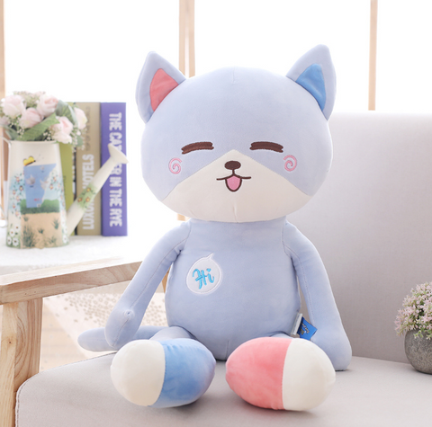 1pc 40/50/70cm 3 Patterns Kawaii Hello Kitten Plush filled smile Cat cushion Baby sleep doll appease toys Boutique Birthday Gift