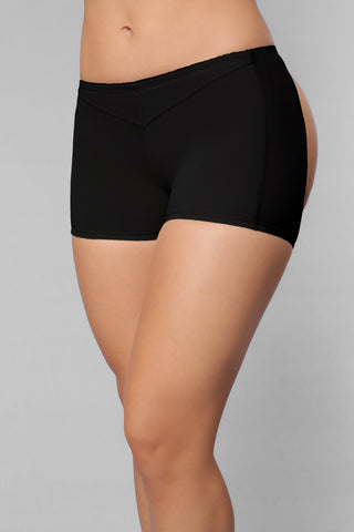 Butt Lifter Boy Short - Black