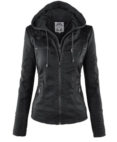 Gothic Faux leather Women Jacket-Women Jacket-The Top Daily Deals