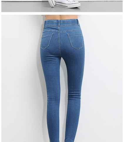 High Waist Pencil Stretch Jeans-The Top Daily Deals
