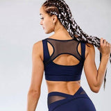Sexy Blue Mesh Two-piece Sport Set-two-piece-The Top Daily Deals