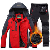 Men Winter Hiking Skiing Waterproof Jacket Pants-Men's Apparel-The Top Daily Deals