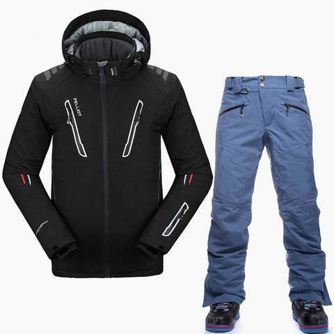 Top Quality Winter Waterproof Jacket & Pants Snowboard Men Set-The Top Daily Deals