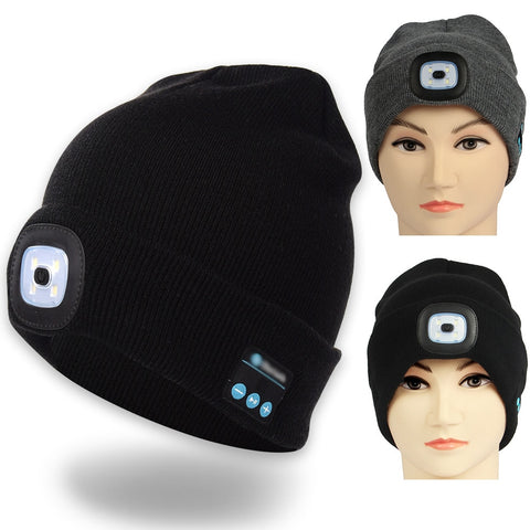 Led Light Beanie Built-in Stereo Speaker Cap-men hat-The Top Daily Deals