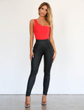 Back It Up Wetlook Pant - Black-Pants-The Top Daily Deals