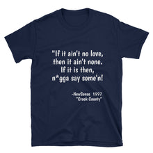 "NewSense ""Crook County"" Quote Tee Blk/Blue"