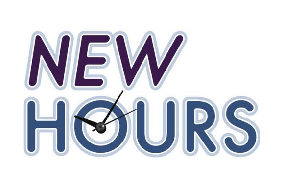 Hours extended at our Washington Square Mall Location!