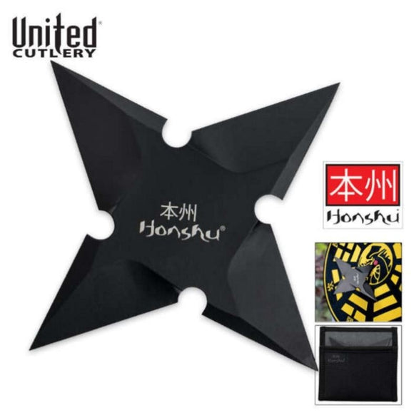 United Cutlery UC3178 Honshu Sleek Black Large Throwing Star