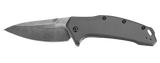 Kershaw Link Gray BlackWash Plain Edge 1776GRYBW