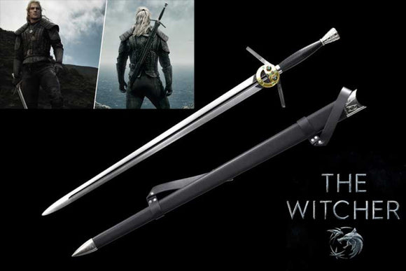 Netflix The Witcher 3: Geralts Steel Sword 3 Replica With Scabbard