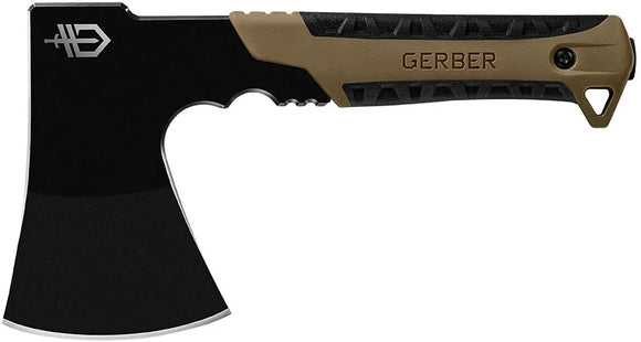 Gerber Pack Hatchet Camping Axe - Coyote Brown Handle/Black Blade [31-003484]