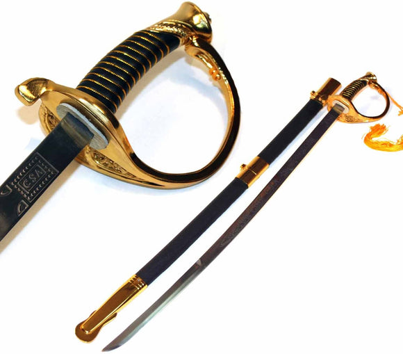 CSA Cavalry Confederate Saber Civil War Officer Sword Replica Costume