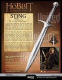 Lord of the rings, The hobbit' Sting-Sword of Bilbo and Frodo Baggins
