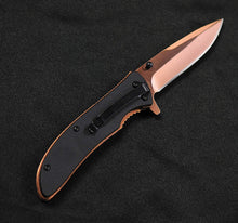 "S-tec 7.5"" Spring Assist Knife 3.5"" Titanium Copper Coated Blade"