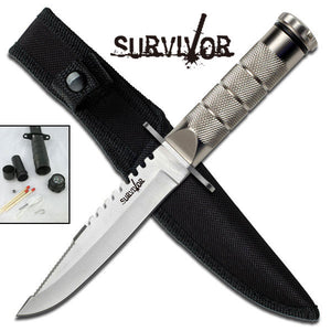 "SURVIVOR HK-695 SURVIVAL KNIFE 9.5"" OVERALL"