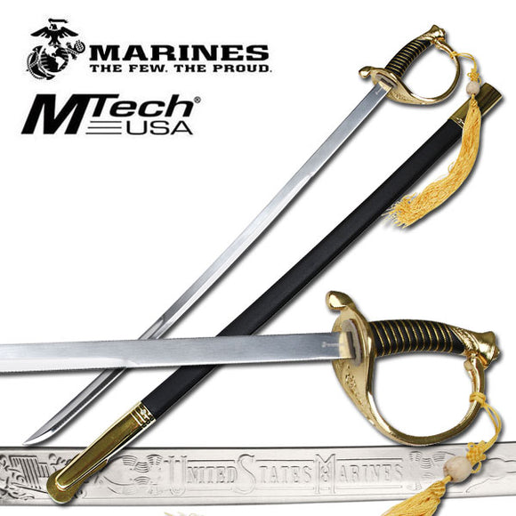 U.S. Marines by MTech USA USA M-1035G HISTORICAL SWORD