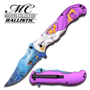Mermaid MASTERS COLLECTION SPRING ASSISTED KNIFE purple