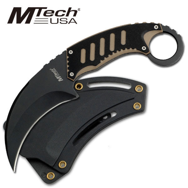 MTech USA tan karambit knife 7.5
