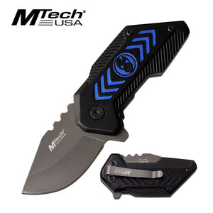 MTECH USA MT-A1051BL SPRING ASSISTED KNIFE BLUE