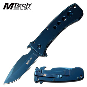 MTECH USA MT-A1093BL SPRING ASSISTED KNIFE BLUE