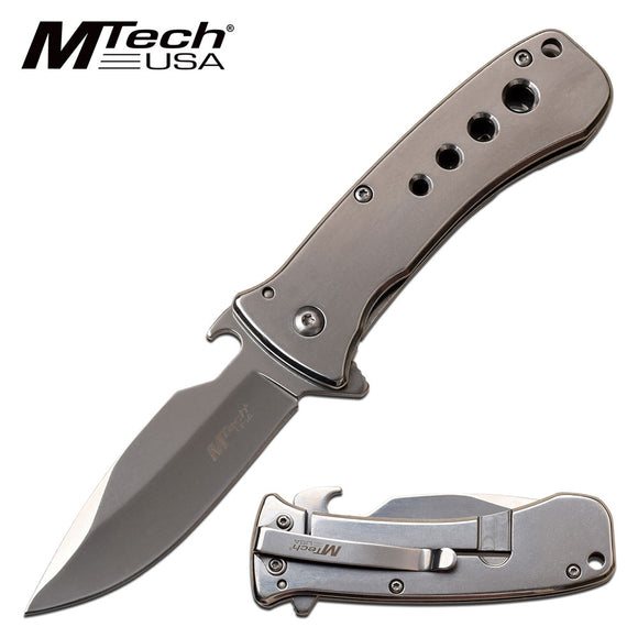 MTECH USA MT-A1093M SPRING ASSISTED KNIFE SILVER
