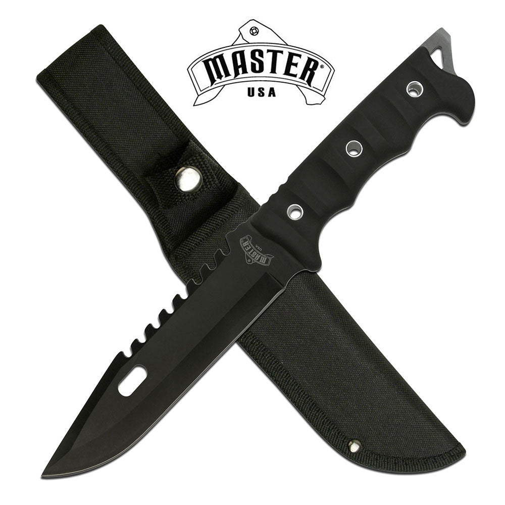 MASTER USA MU-20-02BK FIXED BLADE KNIFE