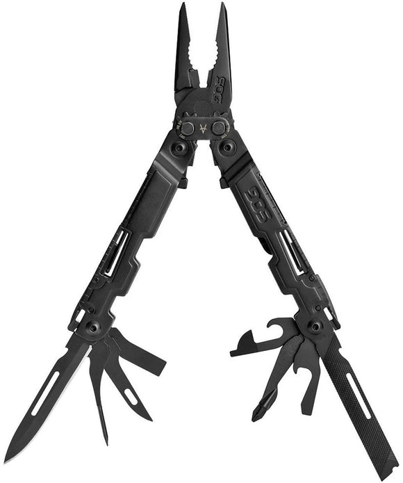 SOG PowerAccess Multi-Tool (Black) with 18 Tools, 5.9