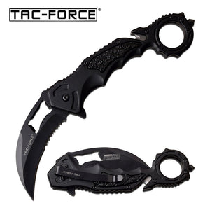 TAC-FORCE TF-972BK SPRING ASSISTED KNIFE black karambit
