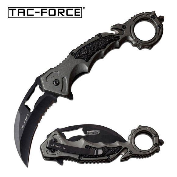 TAC-FORCE TF-972GY SPRING ASSISTED KNIFE GRAY KARAMBIT