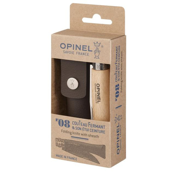Opinel No.8 Stainless & Sheath Gift Box