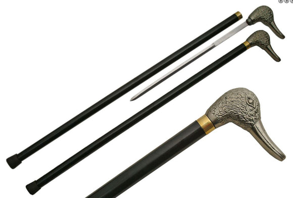 Duck walking cane, hidden blade