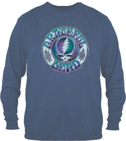 Grateful Dead - Long Sleeve Batik Steal Your Face T-Shirt