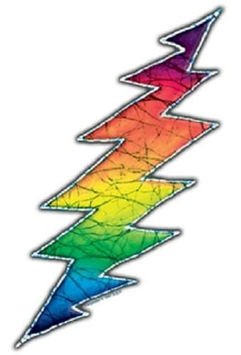 Batik Rainbow Lighting Bolt Sticker - Sticker