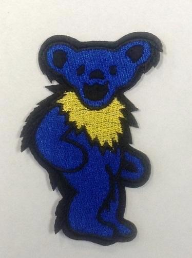 Grateful Dead - Blue Dancing Bear Embroidered Patch - Patches