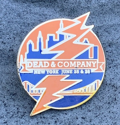Dead & Company Official 2016 New York Collectible Hat Pin
