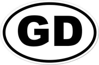 Grateful Dead - Gd Euro Oval Sticker - Sticker
